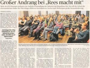 Großer Andrang bei 'Rees macht mit' (RP 3.10.15, Autor Michael Scholten, Foto Lindekamp)