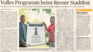 Volles Programm beim Reeser Stadtfest, erstmals öffnet das Café International (Autor + Foto Michael Scholten)