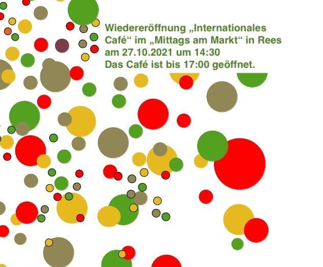 Wiedereröffnung internationales Café